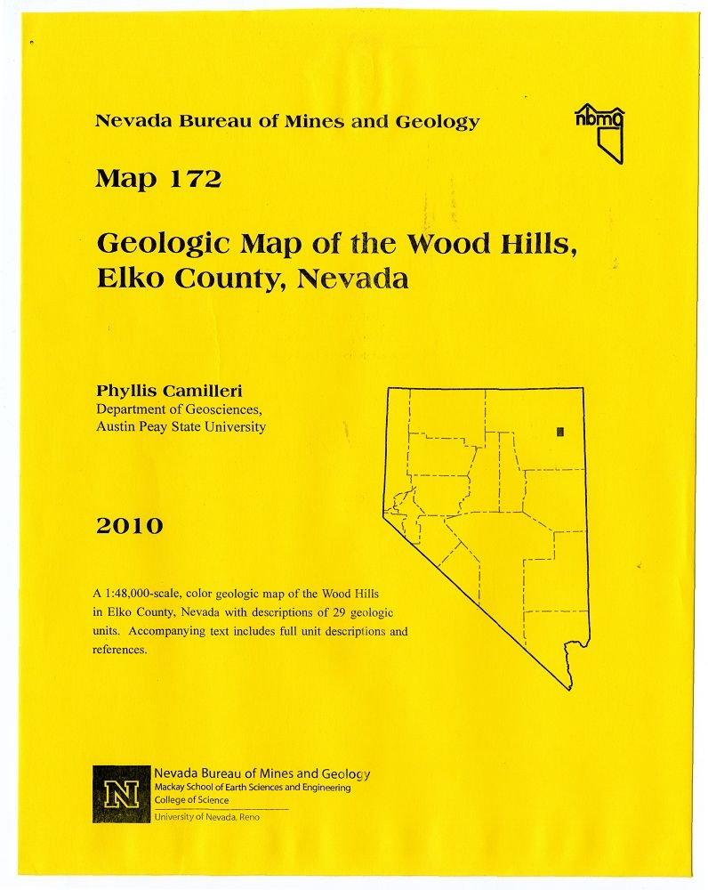 Geologic map of the Wood Hills, Elko County, Nevada [MAP AND TEXT] on crawford county missouri plat map, minnesota state bordering states map, nevada road conditions map, city of ely nv map,