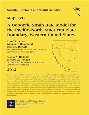 A geodetic strain rate model for the Pacific–North American plate boundary, western United States [FULL-SIZE MAP]