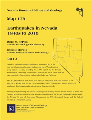 Earthquakes in Nevada: 1840s to 2010 SEE ALSO OPEN-FILE REPORT 13-7