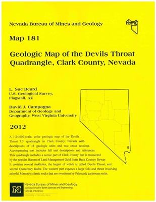 Geologic map of the Devils Throat quadrangle, Clark County, Nevada MAP AND TEXT
