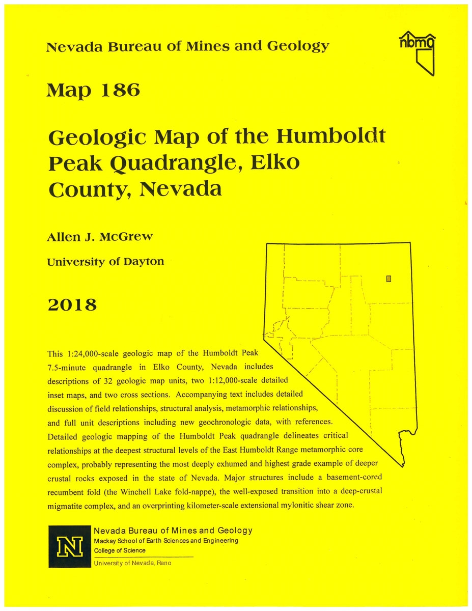 Geologic map of the Humboldt Peak quadrangle, Elko County, Nevada [MAP on oldest south american pyramid, oldest rocks in colorado, oldest rocks on earth,