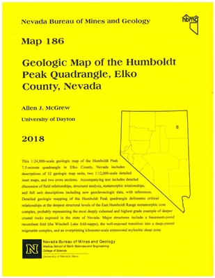 Geologic map of the Humboldt Peak quadrangle, Elko County, Nevada MAP AND TEXT