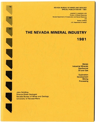 The Nevada mineral industry 1981 [TAPE-BOUND BOOKLET]
