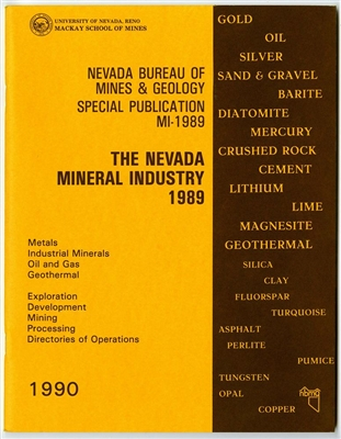 The Nevada mineral industry 1989 TAPE-BOUND BOOKLET