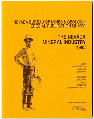 The Nevada mineral industry 1992 TAPE-BOUND BOOKLET