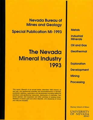 The Nevada mineral industry 1993 [ONLINE ONLY]