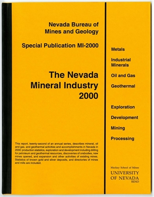 The Nevada mineral industry 2000 [TAPE-BOUND BOOKLET]