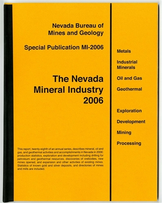 The Nevada mineral industry 2006 [TAPE-BOUND BOOKLET]
