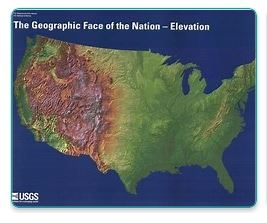 The geographic face of the Nation - Elevation
