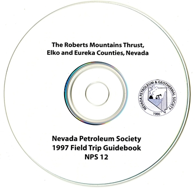 The Roberts Mountains thrust, Elko and Eureka counties, Nevada CD-ROM