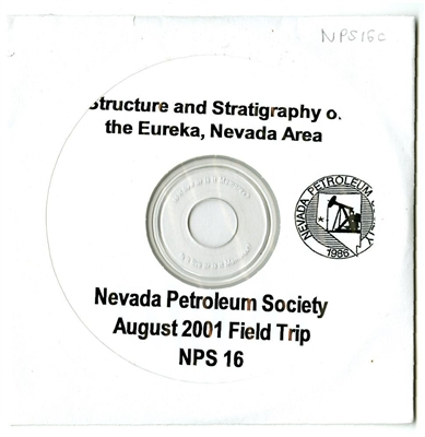 Structure & stratigraphy of the Eureka, Nevada area CD-ROM ONLY