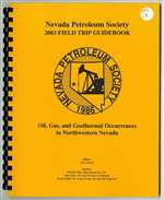 Oil, gas, and geothermal occurrences in northwestern Nevada PLASTIC COMB-BOUND BOOK