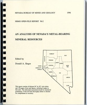 An analysis of Nevada's metal-bearing mineral resources COMB-BOUND TEXT AND 13 ROLLED PLATES