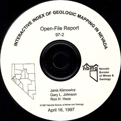 Interactive index of geological mapping in Nevada SUPERSEDED BY OPEN-FILE REPORT 02-1