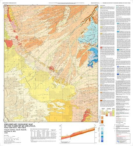 Geologic map of the Pahrump quadrangle, Nevada [COMPLETE DIGITAL PRODUCT  WITH GIS]