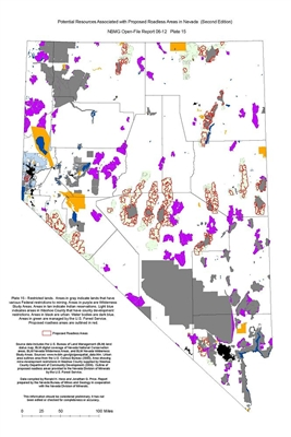 Restricted lands (Plate 15 from Open-File Report 06-12: Potential resources associated with proposed roadless areas in Nevada, second edition) PLATE 15 AND TEXT