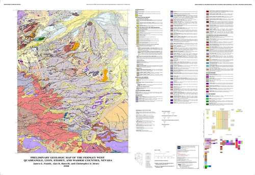 geologic map of the Fernley West quadrangle Lyon Storey and