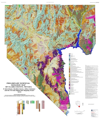 Preliminary surficial geologic map of Clark County, Nevada
