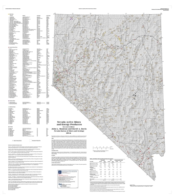 Nevada active mines and energy producers (second edition) COMPLETE DIGITAL PRODUCT WITH GIS SUPERSEDED BY OPEN-FILE REPORT 2017-01z