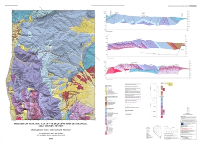 Preliminary geologic map of the Pequop Summit quadrangle, Elko County, Nevada MAP AND TEXT