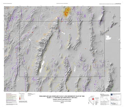 Preliminary Quaternary fault and seismicity map of the Elko 1 x 2 degree quadrangle, Nevada