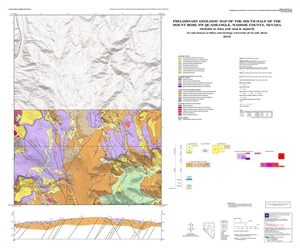 Preliminary geologic map of the south half of the Mount Rose NW quadrangle, Washoe County, Nevada [MAP AND TEXT]