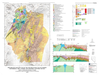 Preliminary geologic map of the Truckee Range, Black Warrior geothermal area, Washoe and Churchill counties, Nevada MAP AND TEXT