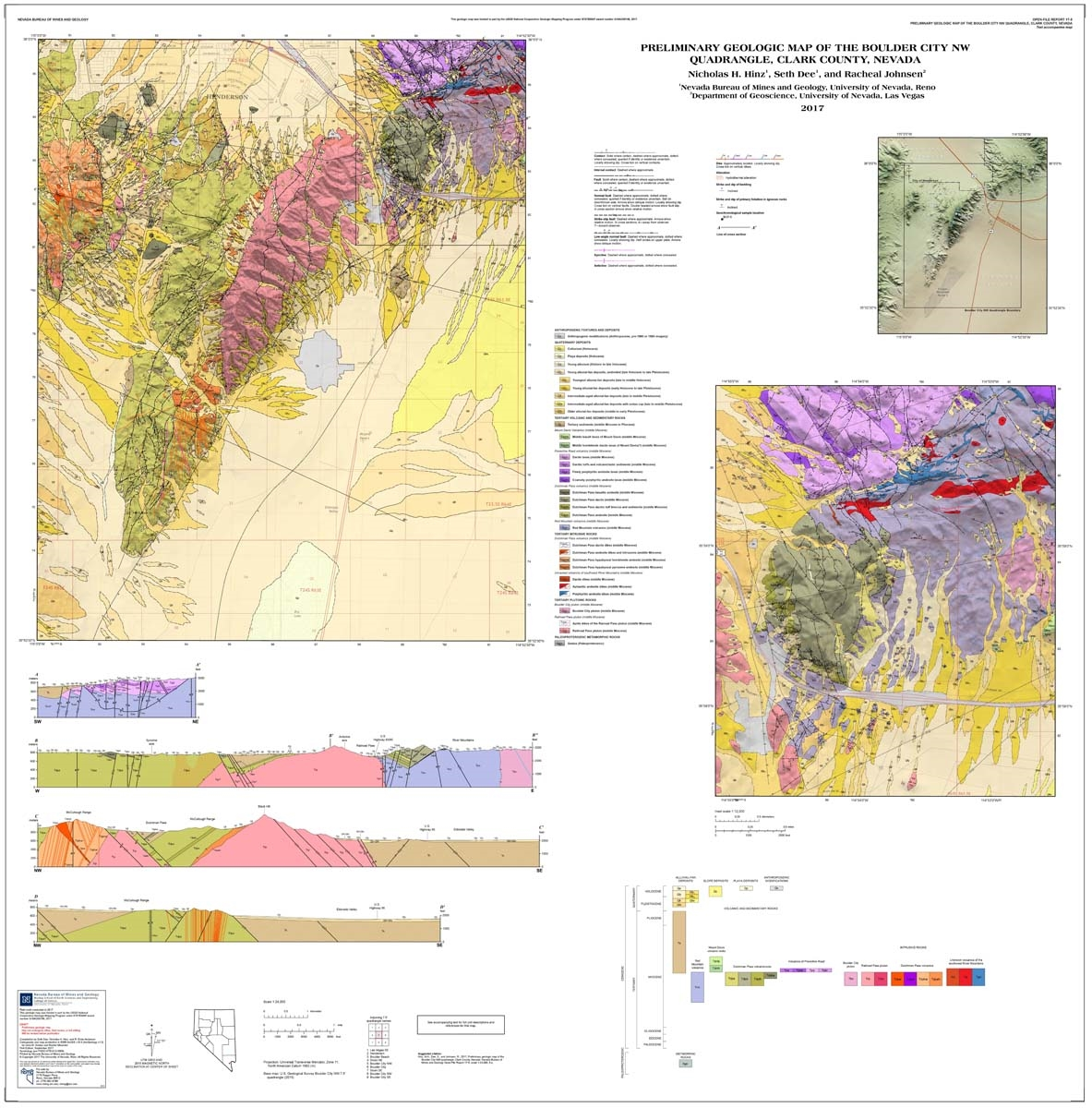 Preliminary geologic map of the Boulder City NW quadrangle, Clark ...