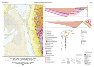 Geologic map of the Independence Valley NW quadrangle, Elko County, Nevada MAP AND TEXT