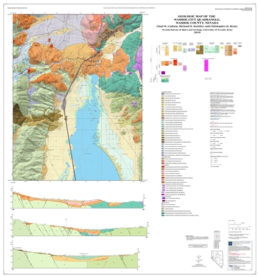 Geologic map of the Washoe City quadrangle, Washoe County, Nevada MAP AND TEXT