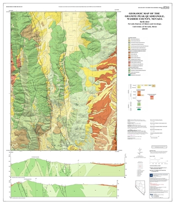 Geologic map of the Granite Peak quadrangle, Washoe County, Nevada  MAP AND TEXT