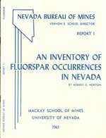 An inventory of fluorspar occurrences in Nevada OUT OF PRINT