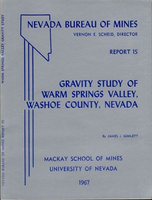 Gravity study of Warm Springs Valley, Washoe County, Nevada
