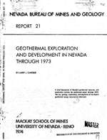 Geothermal exploration and development in Nevada through 1973 OUT OF PRINT