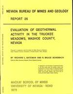 Evaluation of geothermal activity in the Truckee Meadows, Washoe County, Nevada