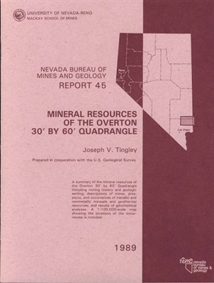 Mineral resources of the Overton 30 feet by 60 feet quadrangle