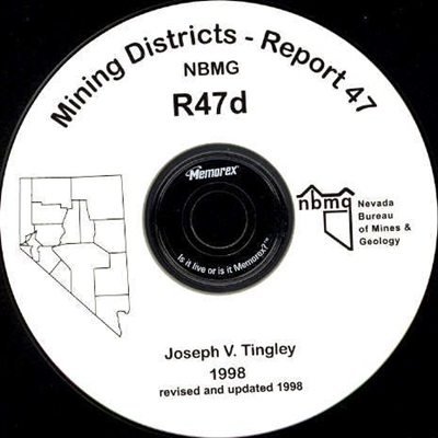 Mining districts of Nevada (second edition) CD-ROM