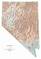 Nevada (Raven State Map series, shaded relief) [LAMINATED]