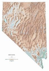 Nevada (Raven State Map series, shaded relief) PAPER