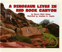 A dinosaur lives in Red Rock Canyon