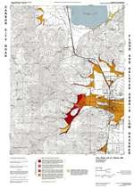 Flood and related debris flow hazards map of the Carson City quadrangle