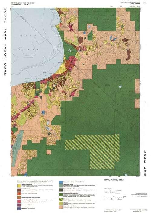 South Lake Tahoe quadrangle: Land use map