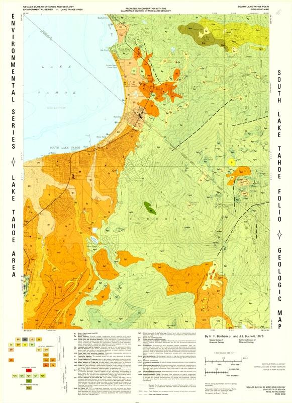 South Lake Tahoe folio: Geologic map