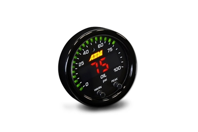 AEM X-Series 100psi Oil/Fuel Pressure Gauge