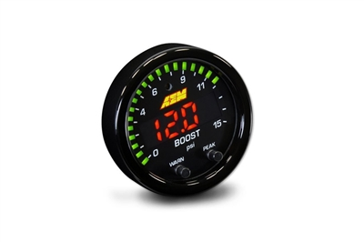 AEM X-Series Boost/Fuel Pressure Gauge 0-15PSI