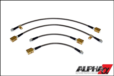 Brake Line - Alpha Performance Race Style SS Brake Lines (R35 GT-R)