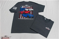 Boostin Performance Supra / GT-R / Mitsubishi T-shirt (Double Sided - Grey)