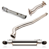 Exhaust System - Cobb Oval-Tip Turbo-back Exhaust System (Evo X)
