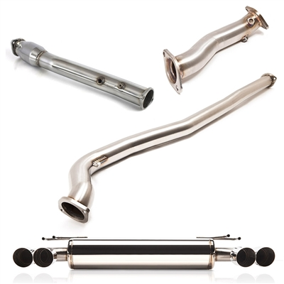 Exhaust System - Cobb Quad-Tip Turbo-back Exhaust System (Evo X)