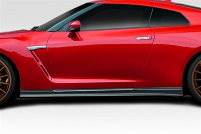 2009-2017 Nissan GT-R R35 Duraflex C-1 Side Skirts Rocker Panels - 2 Piece